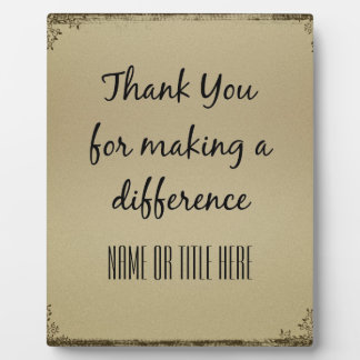 Thank you for Making a Difference Plaque