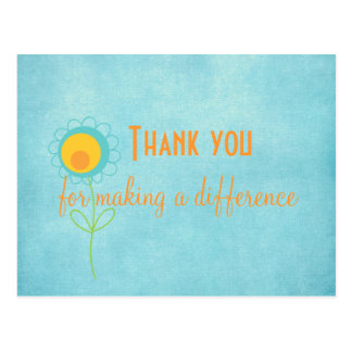 Thank you for Making a Difference Quote Card