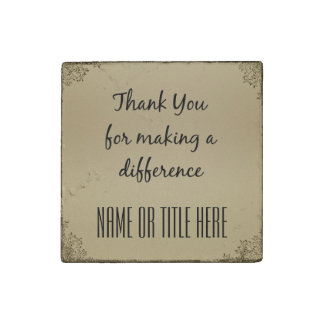 Thank you for Making a Difference Stone Magnet