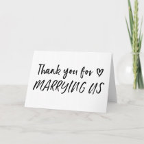 Thank You For Marrying Us Wedding Card