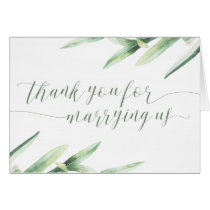 Thank You For Marrying Us Wedding Officiant Card