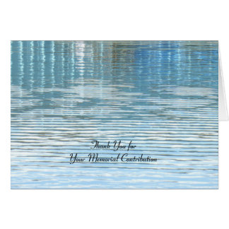 Thank You for Memorial Contribution, Reflection Card