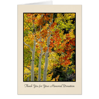 Thank You for Memorial Donation, Three Aspens Card