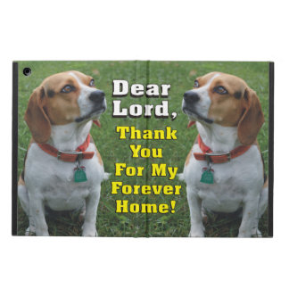Thank You For My Forever Home Beagle Dog iPad Air Cover