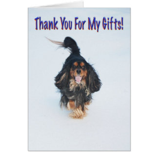 Thank You For My Gifts Dog Greeting Card