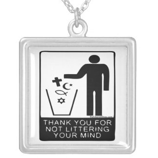 Thank You for not Cluttering Your Mind Necklace