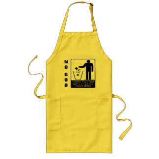 Thank You for Not Littering Your Mind Religion Long Apron