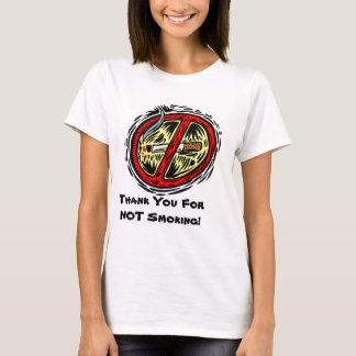 Thank You For Not Smoking Block Print T-shirt