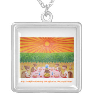 Thank You For Our Daily Bread Silver Plated Necklace