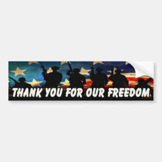 Thank You For Our Freedom 2 Bumper Stickers
