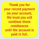 Thank You for Payment Patient Billing Stickers