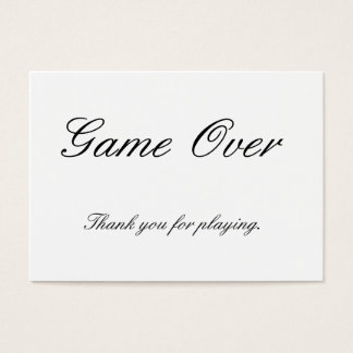 Thank You for Playing Card