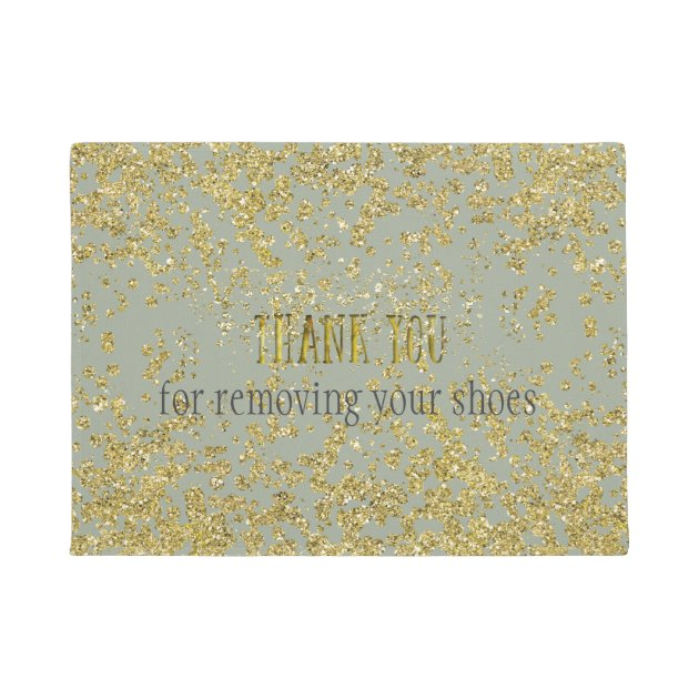 Thank You For Removing Your Shoes Mat Zazzle Com