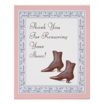 Thank You for Removing Your Shoes - Vintage Poster