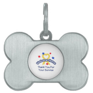 THANK YOU FOR SERVICE PET NAME TAGS