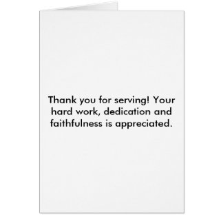 Thank you for serving! - Gratitude Card