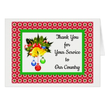 Thank You for Serving Military Christmas Cards