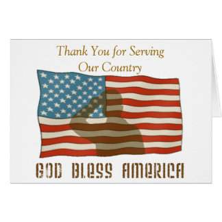 Thank You for Serving Our Country Card