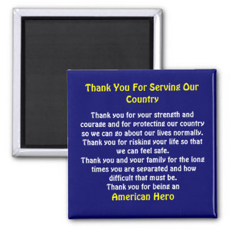 Thank You For Serving Our Country  II Magnet