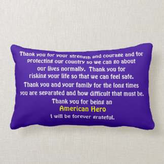 Thank You For Serving Our Country Throw Pillow