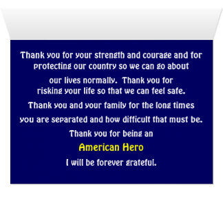 Thank You For Serving Our Country Stationery Note Card