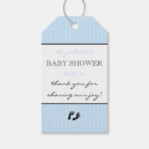 Thank You For Sharing Our Joy Modern  Baby Shower Gift Tags