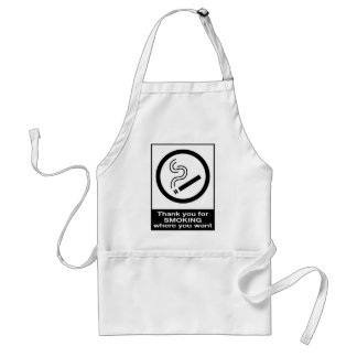 Thank You For Smoking Adult Apron