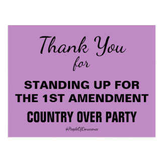 Thank You For Standing Up for 1st Amendment Resist Postcard