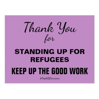 Thank You For Standing Up for Refugees Resist Postcard