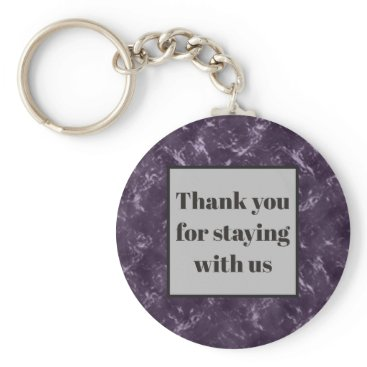Thank You for Staying House Rental Guest Keys Keychain
