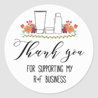 Thank you for supporting my RF business Classic Round Sticker