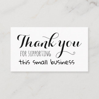 Thank you for supporting this small business appointment card