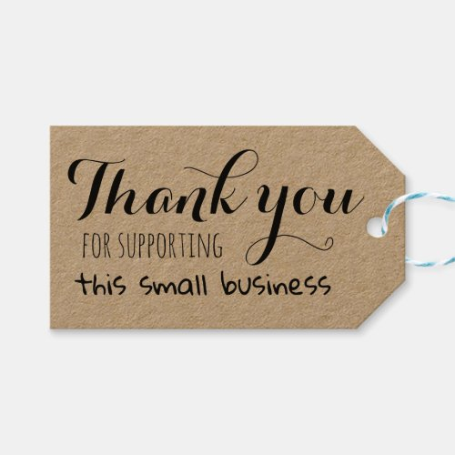 Thank you for supporting this small business gift tags