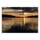Thank You for Sympathy, Golden Sunset at Lake Card