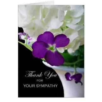 Thank You for Sympathy, Hydrangea, Stock Card