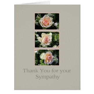 Thank you for Sympathy Large Greeting Card