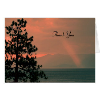 Thank You For Sympathy Note Card, Light Beam