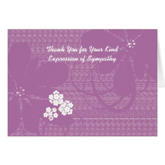 Thank You for Sympathy, Pastel Purple Floral Card