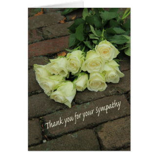 Thank you for Sympathy Stationery Note Card