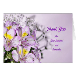 Thank you for sympathy with lilies card