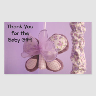 Thank You for the Baby Gift! stickers Butterfly