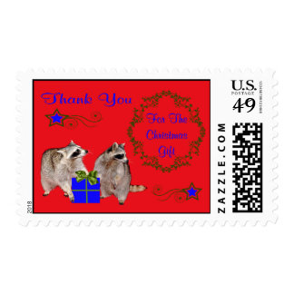 Thank you for the Christmas Gift Postage Stamp
