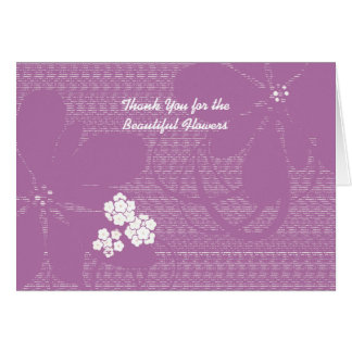 Thank You for the Flowers, Pastel Purple Floral Card