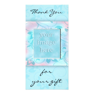 Thank you for the gift -blue photo card