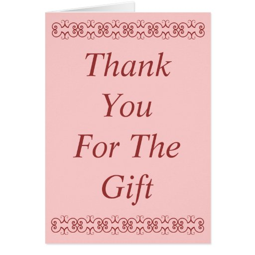 thank you for the gift card zazzle