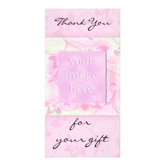 Thank you for the gift -pink photocard card