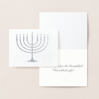 Thank you for the Hanukkah Gift Foil Card