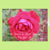 Thank You for the Heart Your Loved One Gave Me Card