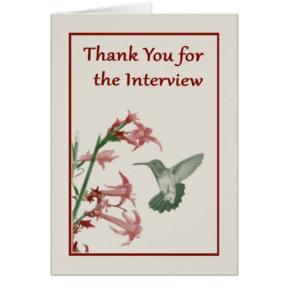 Thank You for the Interview note card