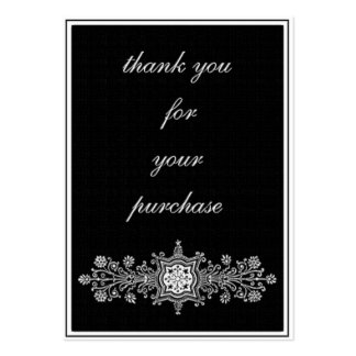 Thank you for the purchase -black large business cards (Pack of 100)